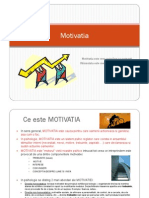 8. Activitati psihice - Motivatia