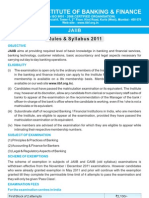 JAIIb Syllabus and Rules NOV 2011
