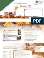 Heidefarmen Rundbrief Herbst & Winter 2011/12 für Wellnessurlaub in Deutschland