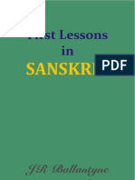 First Lessons in Sanskrit - Eng + Hindi