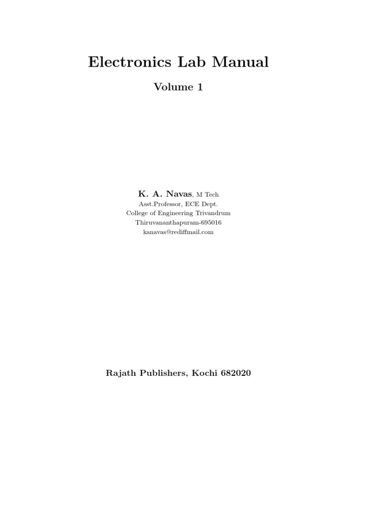 Electronics Lab Manual 1 Bipolar Junction Transistor Electronic Singlejunction Sine Wave Oscillator Circuit Diagramas