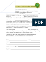 release form for media recording