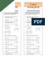 resturant evaluation form