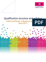 CIMA Qualification and Syllabus