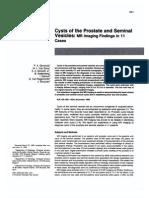 Prostatic and Seminal Vesicles Cyst
