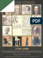 1799-1999 Bicentenario dell'invenzione della pila di Alessandro Volta