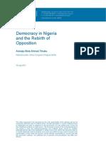 Tinubu Paper Delivered at Chatham House UK July 2011