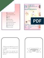 "Bases IV Concurso de Matemática Nivel Primaria ""Eduviges Portalet, Sierva de Dios"""