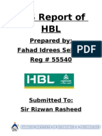 MIS Project on HBL Final