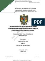 DETALLES Y OPTIMIZACIÓN DE ACEROS PARA CONSTRUCCIONES DE CONCRETO ARMADO