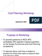 Cost Planning Workshop