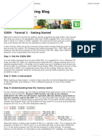 CUDA - Tutorial 1 - Getting Started | the Super Computing Blog