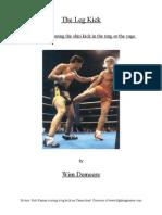 Devastating Low Kicks in MMA and Muay Thai