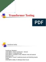 Transfomer Testing