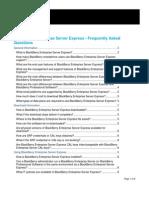 Blackberry Enterprise Server Express FAQ