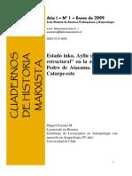 Estado Inka, Ayllu y Paradoja Estructural en La Zona de San Pedro de Atacama. El caso de Catarpe-este