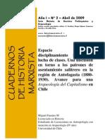 Espacio Pampino, Disciplinamiento Laboral y Lucha de Clases. Avance para una Arqueología del Capitalismo en Chile. (1880-1930)