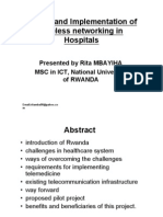 Design and Imple of Wireless Networking in Hospital Rda