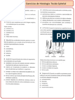 Lista Histologia 1 - Tecido Epitelial