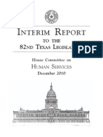 House Committee on Human Services Interim Report 2010