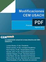 Modificaciones en CEMUSACH