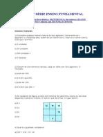 TESTES 6ª SÉRIE ENSINO FUNDAMENTAL