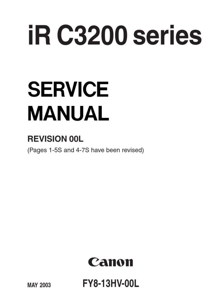 canon irc3200 service manual fax printer computing rh scribd com