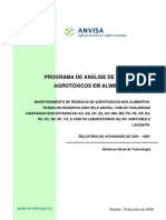 Relatorio+2001+2007 Anvisa Agrotoxicos Alimentos