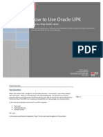 How to Use Oracle User Productivity Kit