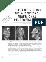 Crisis de La Identidad Profesional