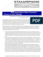Seventeen Most Common Errors in the Liturgy