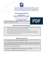 Analista Gestion Proyectos BCIE