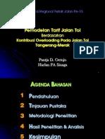 Krtj 10 19 Pemodelan Tarif Jalan Tol Berdasarkan Kontribusi Overloading Pada Jalan Tol Tangerang Merak