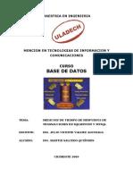 Trabajo Medicion Transacciones SqlServer MySql