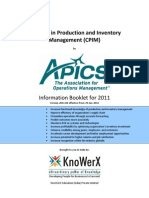 KEI APICS CPIM Information Booklet 2011.04