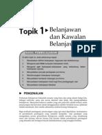 Topik 1 Belanjawan Dan Kawalan Belanjawan