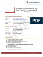 01.Strategic Business Partner and Best Practice in Value-Added Auditing