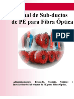 Manual de Sub-Ductos de PE Para Fibra Optica