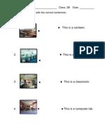 Worksheet - Places in School