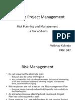 Software Project Management_Risk Management