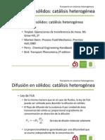 Fenomenos Difusion Solidos Catalisis
