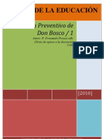 Sistema Preventivo de Don Bosco p Peraza