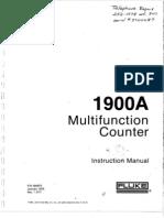 Fluke 1900A Multi Function Counter
