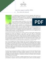 Laicite Rapport Public 2004