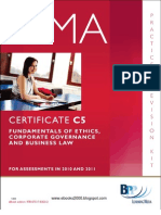 49546873 CIMA Certificate Paper C5 Fundamentals of Ethics Corporate Governance and Business Law Practice Revision