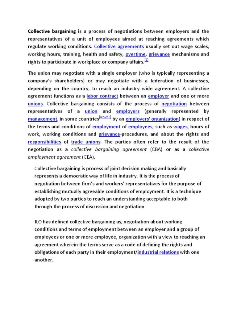 collective bargaining | collective bargaining | business ethics