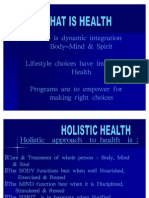 Positive Health Options Presentation