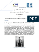 "Speak Truth To Power Series in KI-Media - Natasa Kandic (Serbia) ""Human Rights in Time of War"""