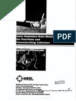 Solar Radiation Data Manual