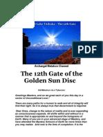 Archangel Metatron Channel 12th Gate of the Golden Sun Disc